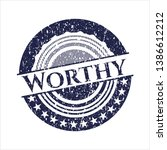 blue worthy distressed with... | Shutterstock .eps vector #1386612212