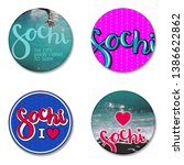 Set of round labels for sochi...