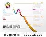 vector infographic diagonal... | Shutterstock .eps vector #1386623828