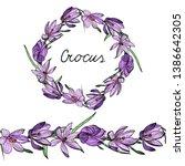 floral garland. endless...   Shutterstock .eps vector #1386642305