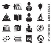 university and college icons.... | Shutterstock .eps vector #1386655385