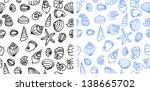 shell seamless pattern. sea... | Shutterstock .eps vector #138665702