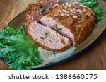 belgian meatloaf  belgian...   Shutterstock . vector #1386660575
