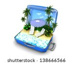 package beach vacation | Shutterstock . vector #138666566