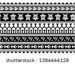 tribal polynesian maori tattoo  ... | Shutterstock .eps vector #1386666128
