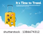 it s time to travel.travel... | Shutterstock .eps vector #1386674312
