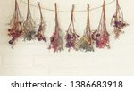 Dried Flowers Hanging On The...