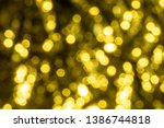 abstract bright yellow bokeh... | Shutterstock . vector #1386744818
