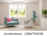 Mock Up Of Stylish Room In...