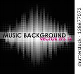 black and white music mosaic... | Shutterstock .eps vector #138677072