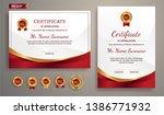 premium certificate of... | Shutterstock .eps vector #1386771932