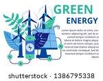alternative energy concept in... | Shutterstock .eps vector #1386795338