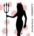 silhouette of a female devil... | Shutterstock .eps vector #138680072