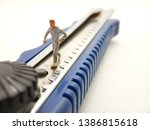 running mini figure man toy at... | Shutterstock . vector #1386815618