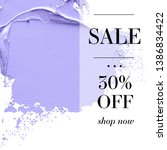 sale 30  off sign over paint... | Shutterstock .eps vector #1386834422