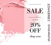 sale 20  off sign over paint... | Shutterstock .eps vector #1386834425