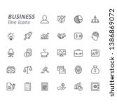 business and finance line icons ... | Shutterstock .eps vector #1386869072