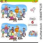 cartoon illustration of finding ... | Shutterstock .eps vector #1386879125