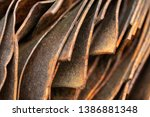 picturesque curved sheets of... | Shutterstock . vector #1386881348