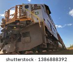locomotive view from the ground  | Shutterstock . vector #1386888392