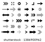 a set of arrows for websites | Shutterstock .eps vector #1386900962