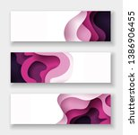 horizontal abstract color 3d... | Shutterstock .eps vector #1386906455