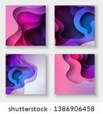 square abstract color 3d paper... | Shutterstock .eps vector #1386906458
