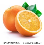 Orange Fruit With Orange Slice...