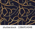 gold chains and belts. scarf... | Shutterstock .eps vector #1386914348