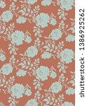 botanical seamless pattern.... | Shutterstock . vector #1386925262