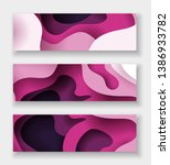 horizontal abstract color 3d... | Shutterstock .eps vector #1386933782