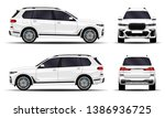 realistic suv car. front view ... | Shutterstock .eps vector #1386936725