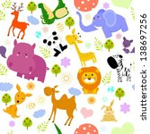 animal seamless wallpaper | Shutterstock .eps vector #138697256