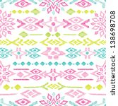 Seamless Bright Colorful Aztec...