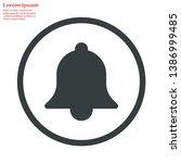 bell vector icon 10 eps   lorem ...   Shutterstock .eps vector #1386999485