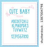 vector cute and sweet font with ... | Shutterstock .eps vector #1387004798