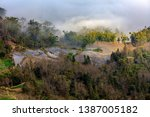 samaba rice terrace fields in... | Shutterstock . vector #1387005182