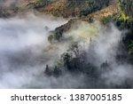 samaba rice terrace fields in... | Shutterstock . vector #1387005185