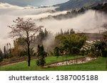 samaba rice terrace fields in... | Shutterstock . vector #1387005188