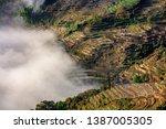 samaba rice terrace fields in... | Shutterstock . vector #1387005305