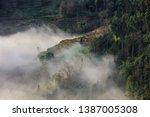 samaba rice terrace fields in... | Shutterstock . vector #1387005308