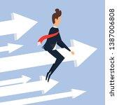 businessman flying on ascending ...   Shutterstock .eps vector #1387006808