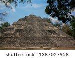 Huge Structure Ix Maya Pyramid...