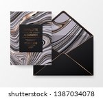 marble celebration design card... | Shutterstock .eps vector #1387034078