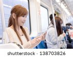 asian beauty in mrt carriages... | Shutterstock . vector #138703826