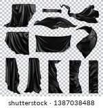 black curtain vectorized image. ... | Shutterstock .eps vector #1387038488