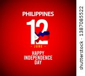 happy philippines independence... | Shutterstock .eps vector #1387085522
