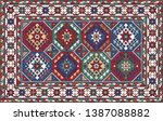 Colorful Oriental Mosaic Rug...