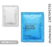 white matte paper sachet. photo ...   Shutterstock .eps vector #1387095755