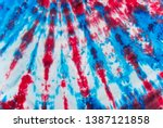 Red white and blue tie dye...